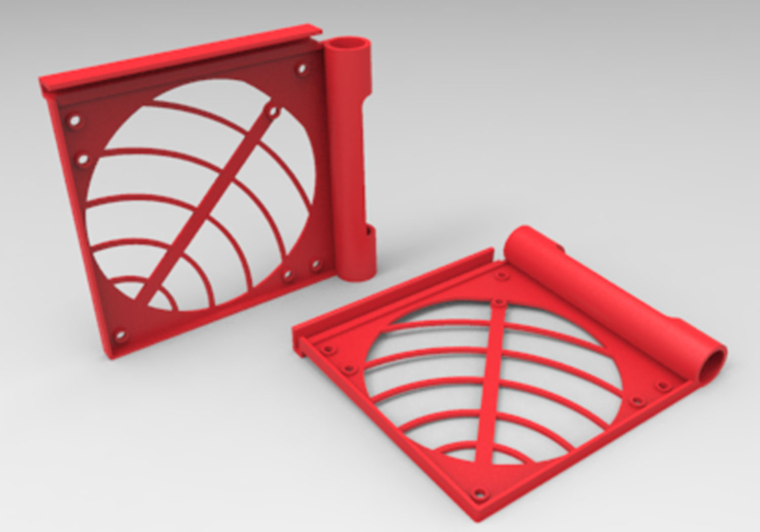 Thermaltake 3d Makers Core P90 Tempered Glass Fan Bracket 002